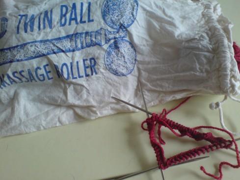 twin ball knitting bag
