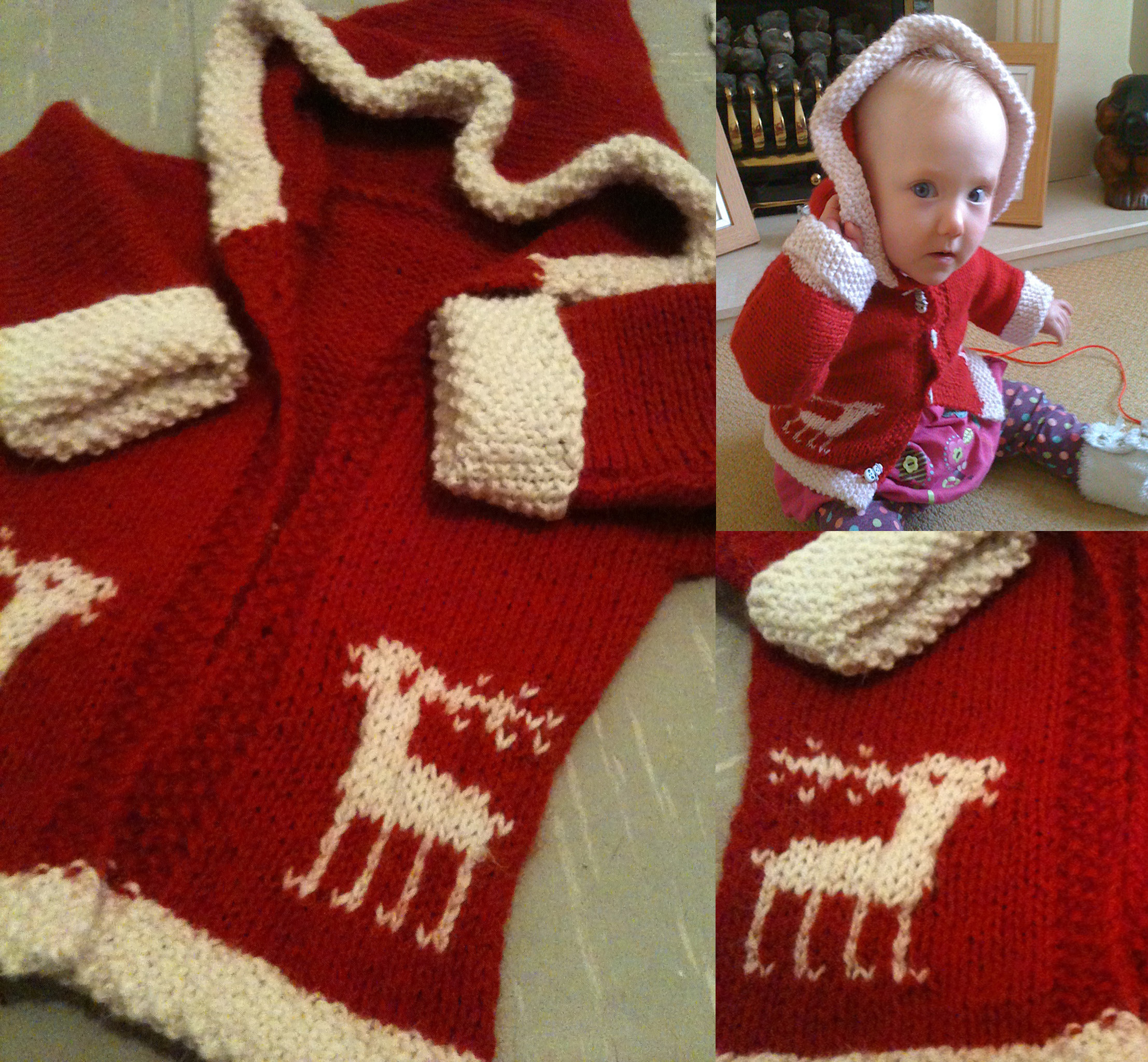 Christmas Jumper Knitting Patterns For Babies - Gray Cardigan Sweater